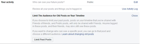 Your Activity on Facebook