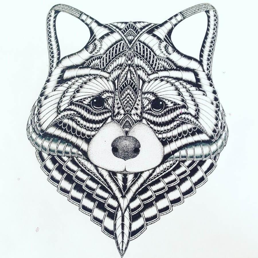 08-Raccoon-Zentangle-Stine-Lee-www-designstack-co