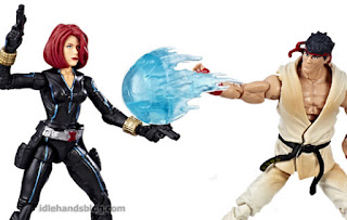Hasbro Marvel Marvel vs Capcom Infinite Gamerverse Action Figures Black Widow vs Street Fighter's Ryu 006