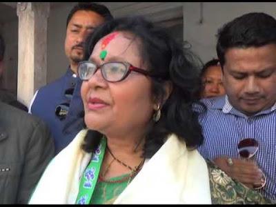 TMC leader Ex MLA Shanta Chhetri