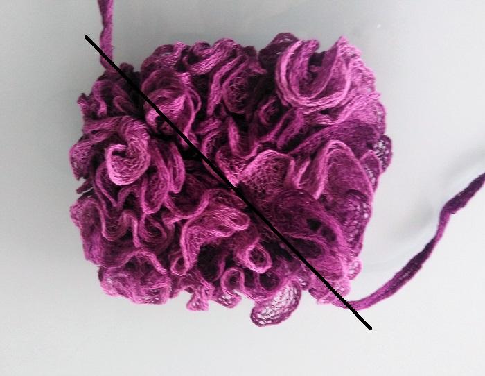 Bulle&Funambule: fleur de bain en laine flamenco
