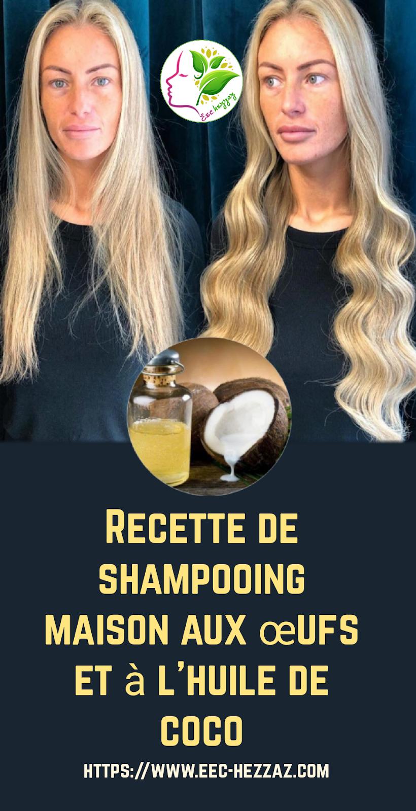 Recette de shampooing maison aux œufs et à l'huile de coco