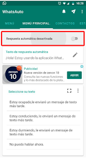 como programar mensajes en WhatsApp