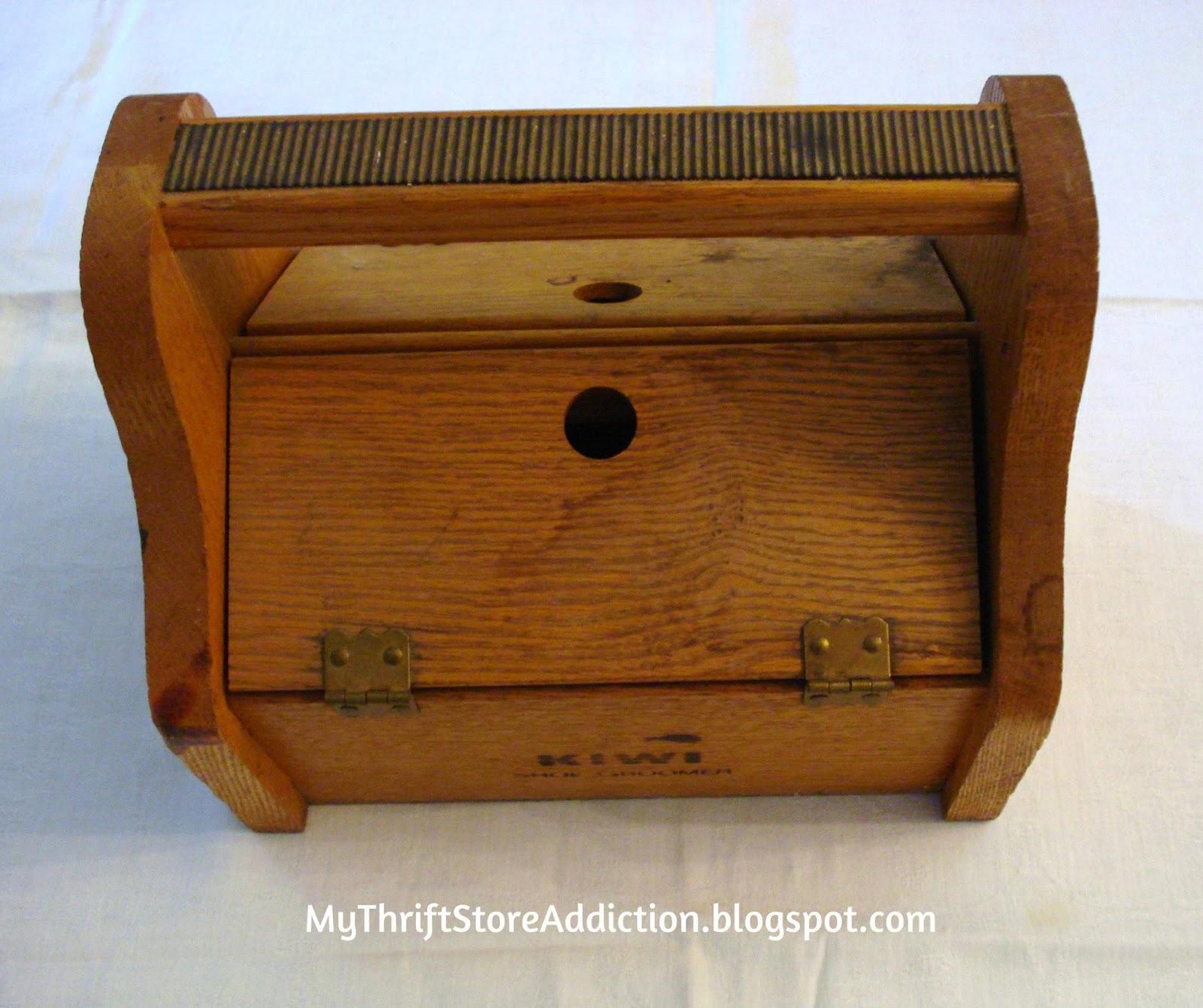 Repurposed vintage shoe shine box