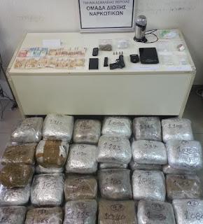 Συνελήφθησαν 2 άτομα στην Θεσσαλονίκη για κατοχή και διακίνηση μεγάλων ποσοτήτων ναρκωτικών