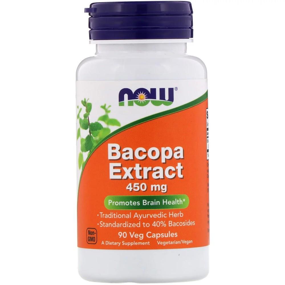 Now Foods, Экстракт бакопы, 450 мг, 90 растительных капсул