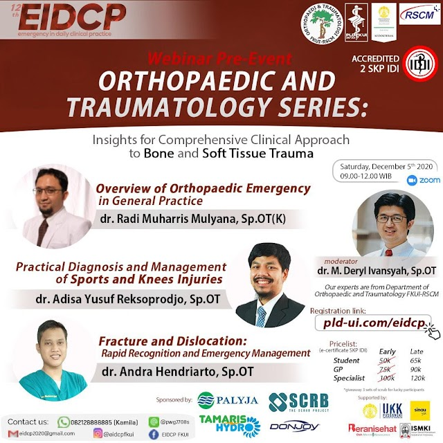 [THE 12TH EIDCP ORTHOPAEDIC AND TRAUMATOLOGY SERIES: INSIGHTS FOR COMPREHENSIVE CLINICAL APPROACH TO BONE AND SOFT TISSUE TRAUMA]
