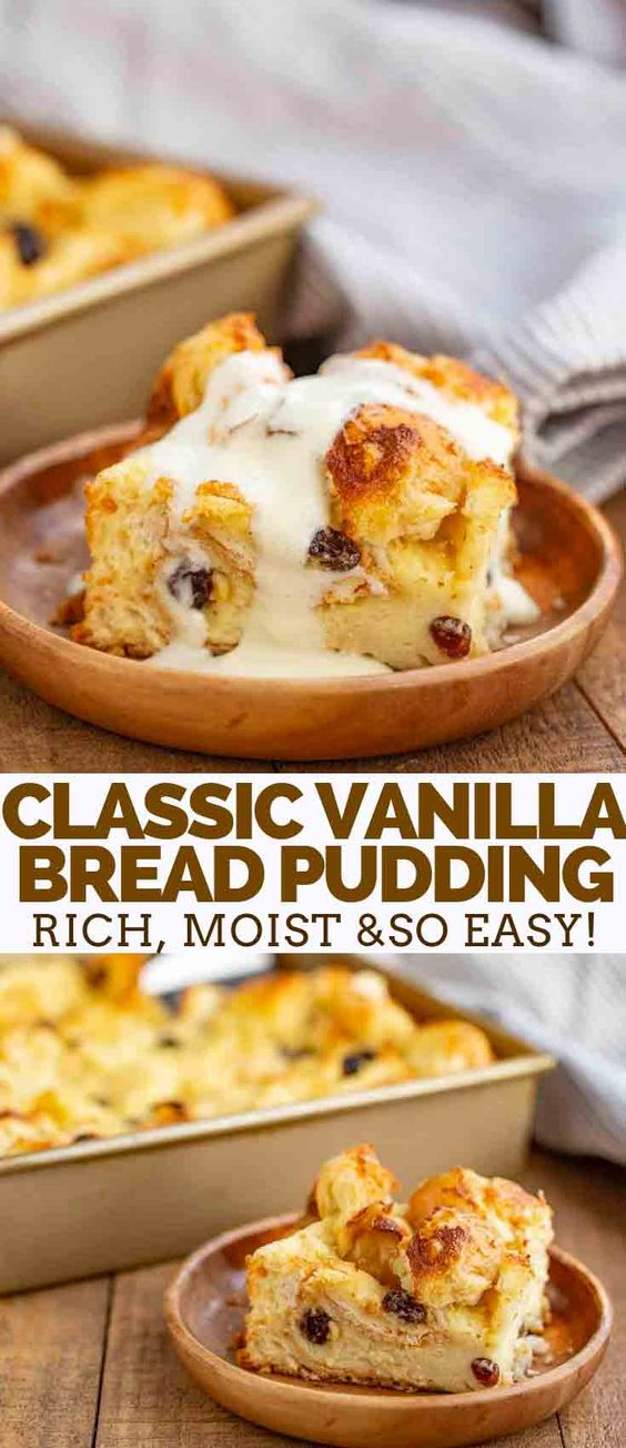 Bread Pudding is the PERFECT old fashioned dessert for the holidays made with day old bread, half and half, sugar, and vanilla, and only takes 45 minutes to bake!
