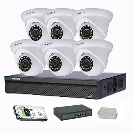 Bộ 6 Camera Full HD + Đầu ghi 8 kênh giá rẻ
