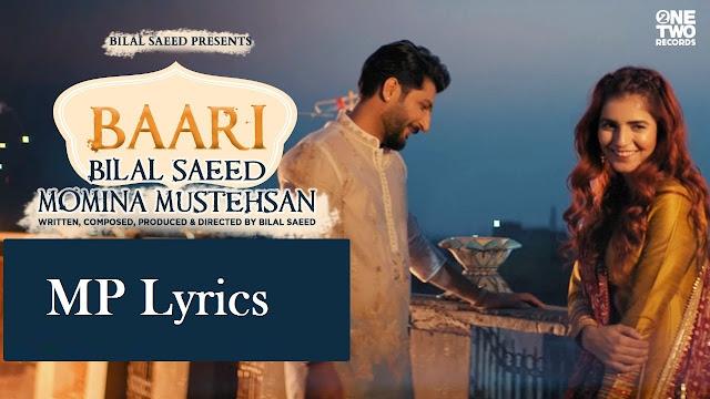baari bilal saeed song | baarish bilal saeed lyrics | baari bilal saeed lyrics | baari bilal saeed lyrics translation | baari bilal saeed | baari bilal saeed new song mp3
