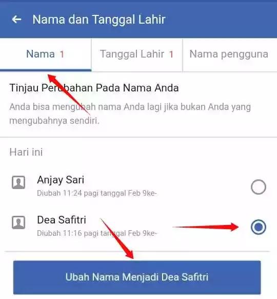 Cara Ganti Nama Facebook Sebelum 60 Hari Tanpa Banding