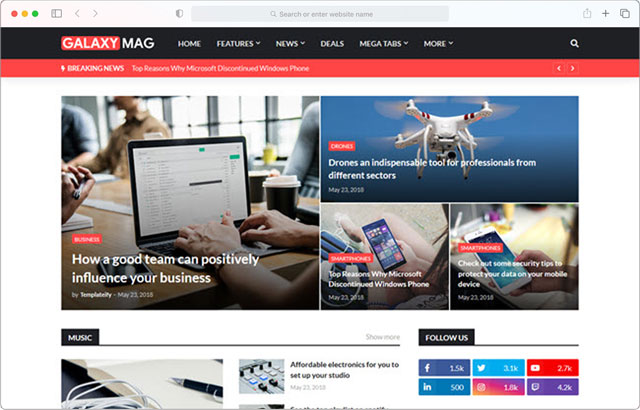 GalaxyMag - Premium Blogger Templates