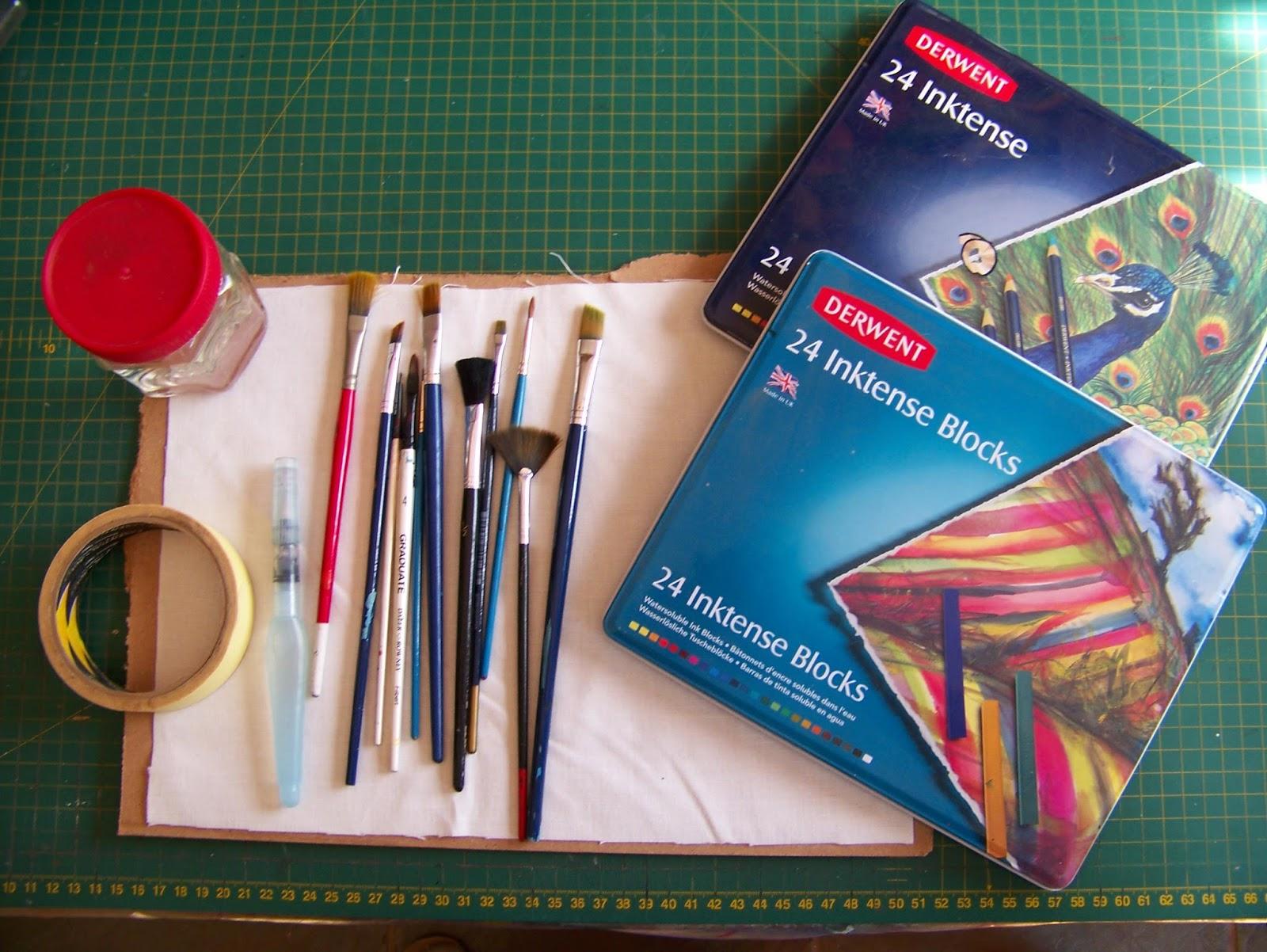 A Pretty Talent Blog: Using Derwent Inktense on Fabric