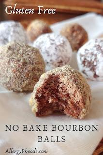 gluten free no bake bourbon balls