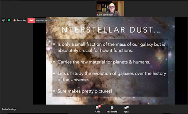 Learning about interstellar dust at monthly OCA meeting (Source: Karin Sandstrom, UCSD)