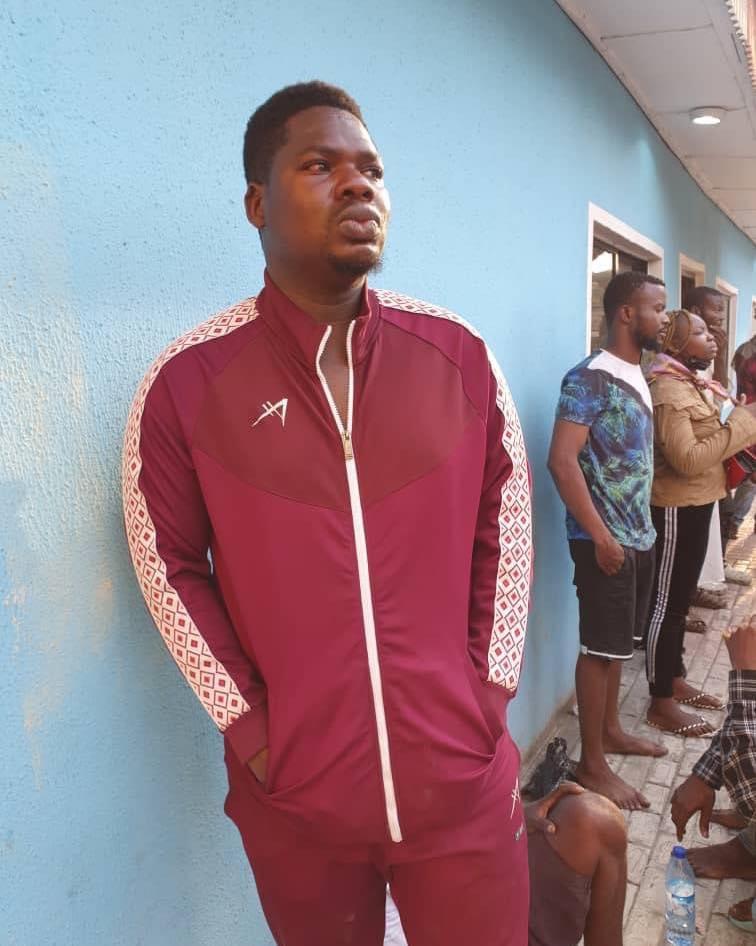 Popular Nigerian Comedian, Mr Macaroni arrested during lekki protest