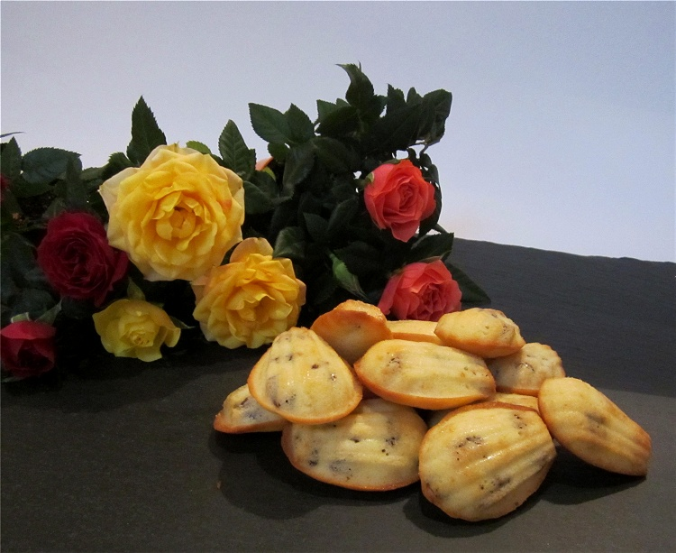 Mini-Rosinen-Madeleines