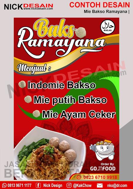 Desain Banner Spanduk Bakso Ramayana