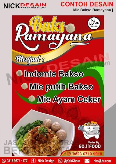 Contoh Desain Banner Spanduk Bakso Ramayana