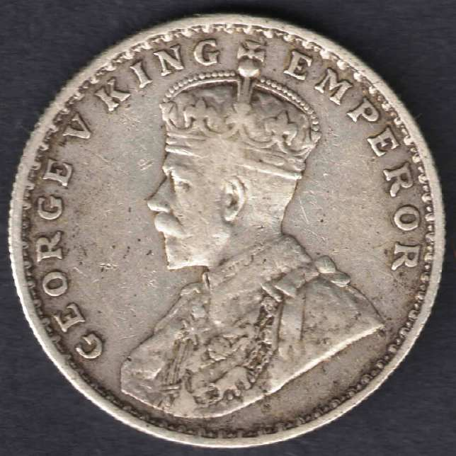 Pre Independence Silver Coins Of India 1918 George V King