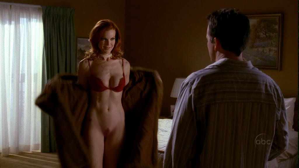 nude Marcia shower cross