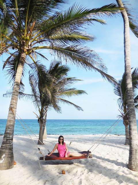 Plaża, palmy, ocean