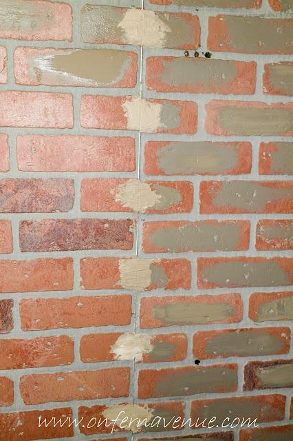 Faux Brick Panels Using The German Schmear Technique