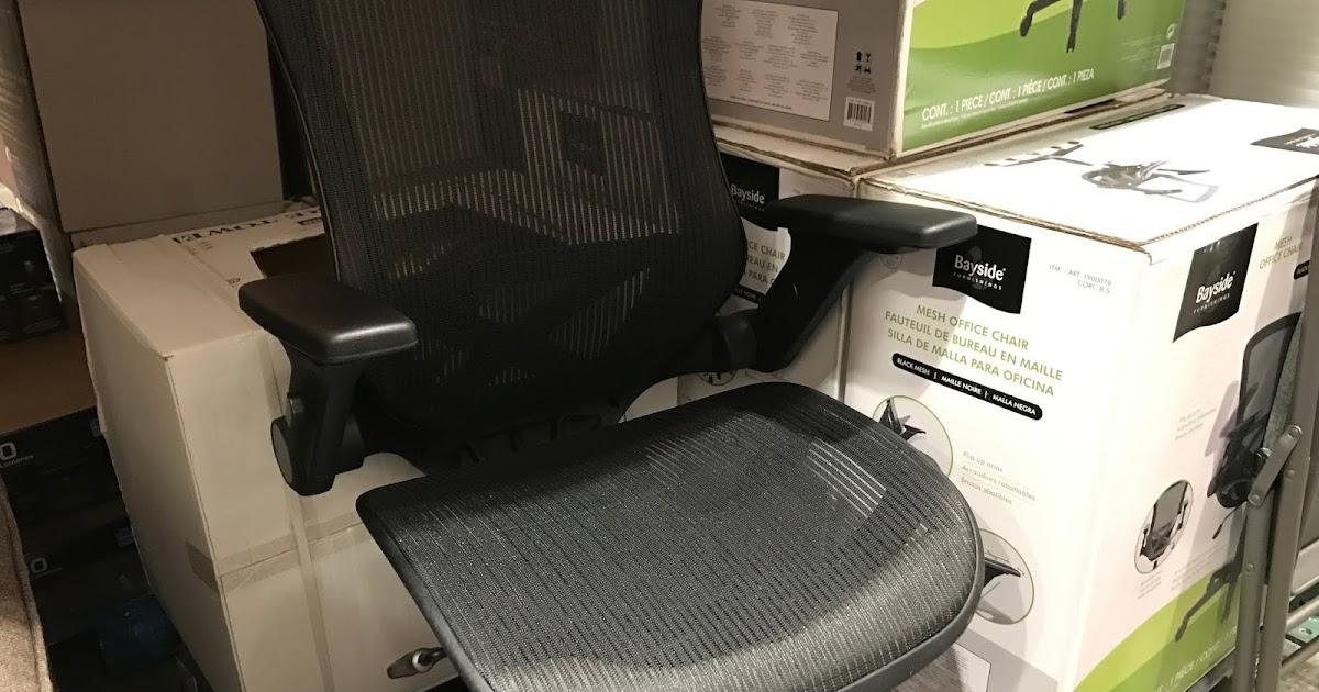 Bayside Furnishings Mesh Office Chair Costco Weekender