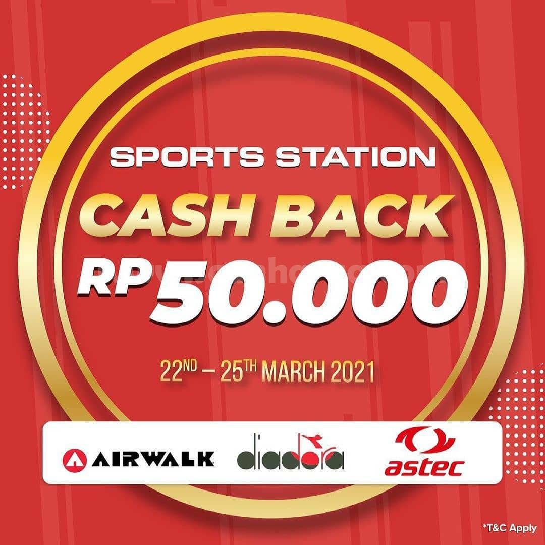 Sports Station Promo Airwalk, Diadora & Astec - Cashback Rp 50.000