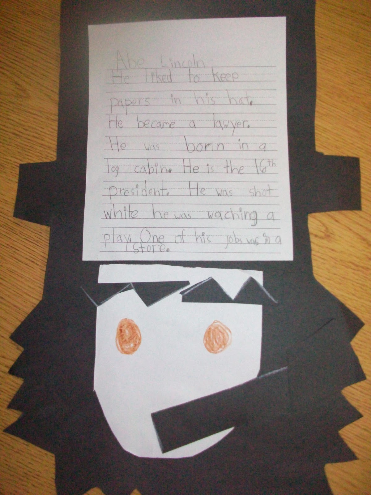 Sarah S First Grade Snippets Abraham Lincoln