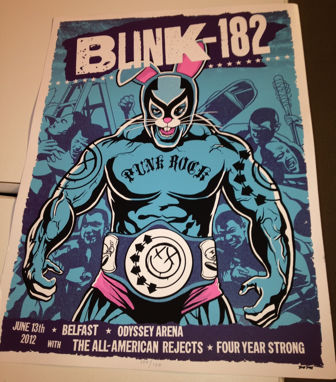 INSIDE THE ROCK POSTER FRAME BLOG: World Premier Exclusive blink-182 ...