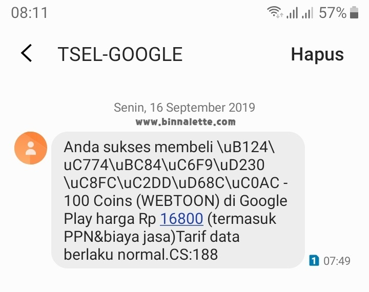 Notifikasi SMS