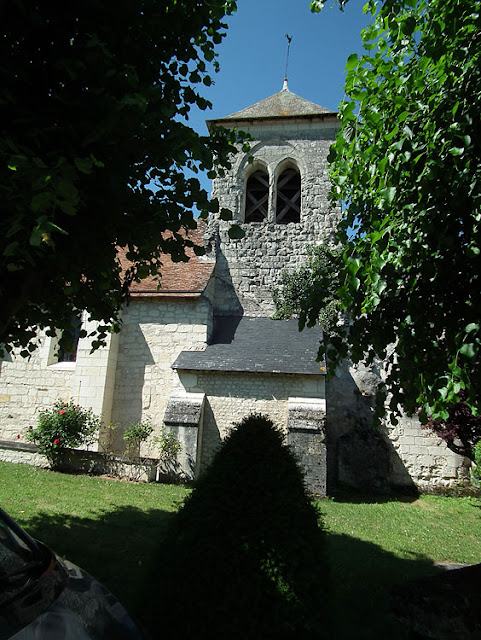 Church of Saint Martin, Marce sur Esves.  Indre et Loire, France. Photographed by Susan Walter. Tour the Loire Valley with a classic car and a private guide.