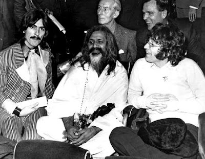 george harrison, maharishi mahesh yogi & john lennon