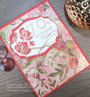 70th birthday card using fine art floral suite 3