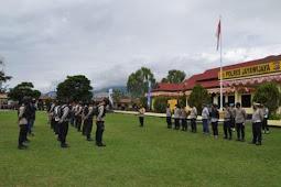 1 Peleton Personil Polres Jayawijaya Bergeser ke Yalimo