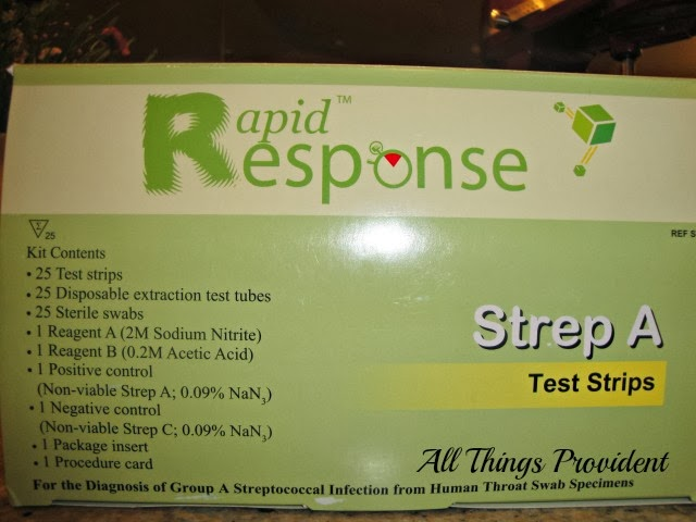 All Things Provident Home Strep Test