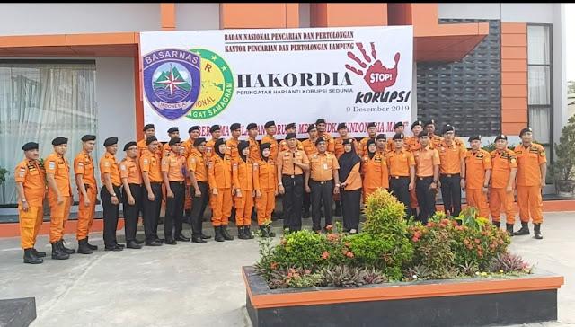Stop Korupsi dan Jaga Integritas, slogan Basarnas Lampung Dalam Memperingati Hari Anti Korupsi Sedunia Tahun 2019