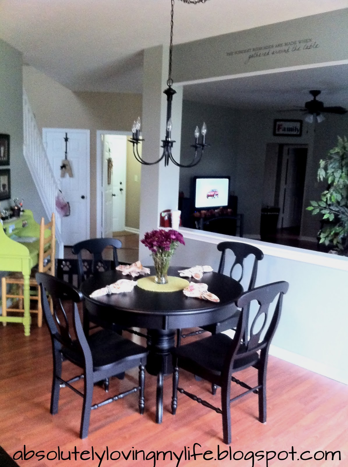 Loving Life Refinished Craigslist Kitchen Table  No