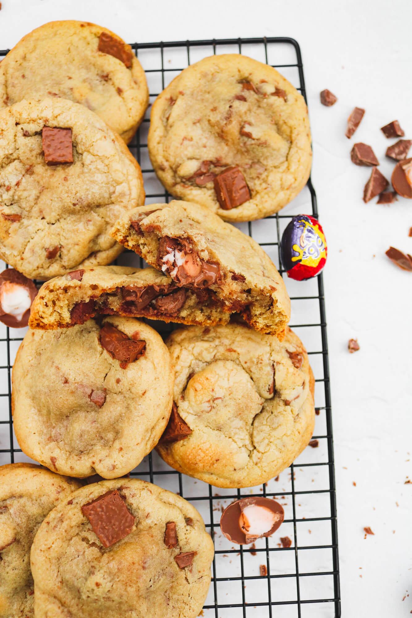 Creme Egg Chocolate Chunk Cookies | Take Some Whisks