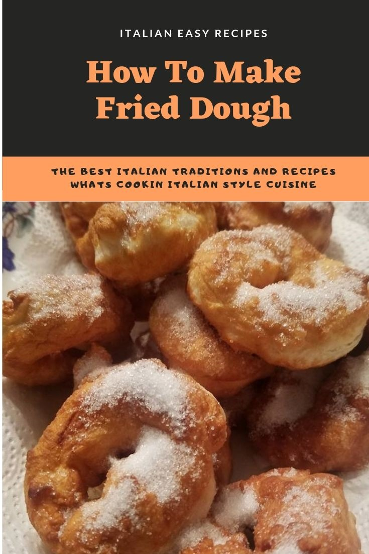 This is an Italian dessert found in Italy called zeppole. It's a fried pizza dough with sugar on top