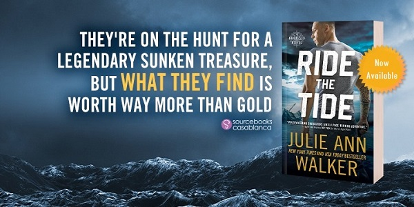 They're on the hunt for a legendary sunken treasure, but what they find is worth way more than gold. Ride the Tide by Julie Ann Walker.