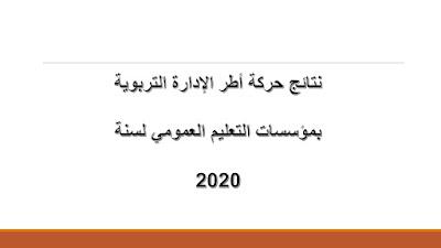 نتائج حركة أطر الإدارة التربوية بمؤسسات التعليم العمومي لسنة 2020