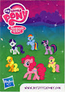 MLP Wave 6 Pinkie Pie Blind Bag Card