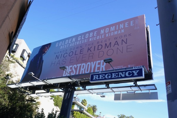 Destroyer Golden Globe nominee billboard