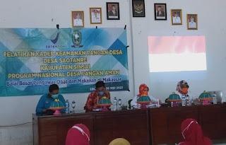 Desa Saotanre Terpilih di  Kabupaten Sinjai Dalam Pelatihan Kader Keamanan Pangan Desa