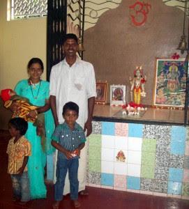 Prashanth Shetty with his family
