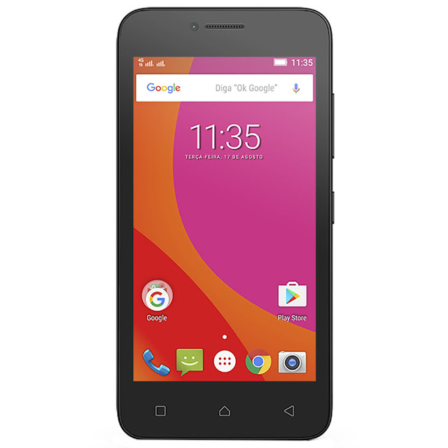 """Smartphone Lenovo Vibe B com 8GB tela 4.5""""câmera 5MP android 6.0, processador Quad-Core"""