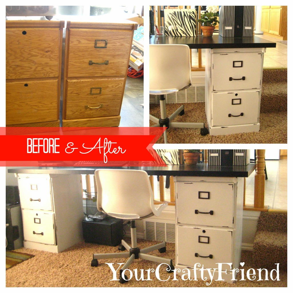 Your Crafty Friend Before Amp After Filing Cabinets