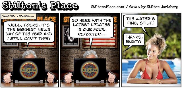 stilton's place, stilton, political, humor, conservative, cartoons, jokes, hope n' change, busty ross, carpal tunnel, runoff, electoral college, trump, biden, georgia